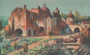 El Popo Mexico Antique Painting Postcard