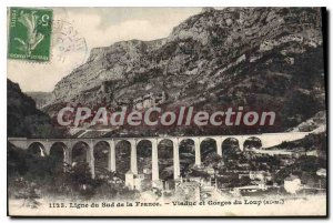 Old Postcard Gorges of WOLF viaduct