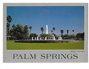 Fountain in Front of Airport Palm Springs California 4 by 6 card