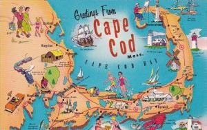 Massachusetts Cape Cod Greetings From Cape Cod 1961