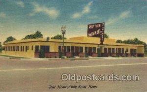Rip van winkle Apartment Motel, Los Angeles, CA, USA Motel Hotel 1959 light c...
