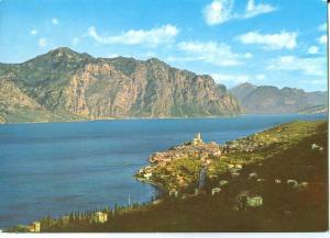 Italy, Lago di Garda, Malcesine, verso Limone e Riva, 1965 used Postcard