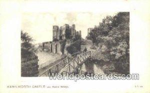 Rustic Bridge Kenilworth Castle UK, England, Great Britain Unused