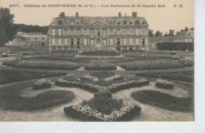 Postal B/N 0279 : Chateau de Dampierre: les parterres de la fa?de sud