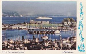 C.P.R. Ferry leaving Vancouver , B.C. , Canada , 50-60s
