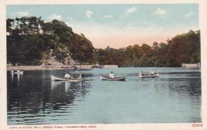 Ohio Yuongstown Canoeing On Lake Glacier Mill Creek Park