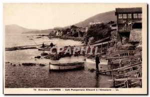 Surroundings of & # 39Hyeres Old Postcard Cafe Pomponians Allouard has the & ...