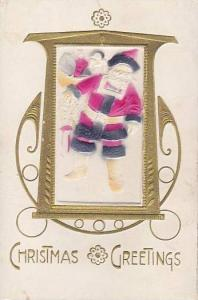 Christmas Santa Claus Red Robe In Picture Frame