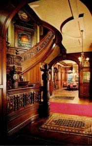 Texas Galveston Bishop's Palace View Across Main Hallway Into Dining Room
