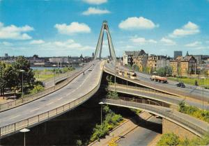 GG13925 Koeln am Rhein Severinsbruecke Auto Tram Cars Bridge River Panorama