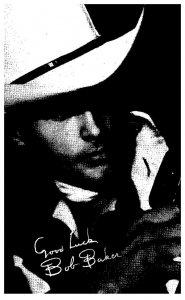Bob Baker  Country  Singing Cowboy,  , Exhibit card