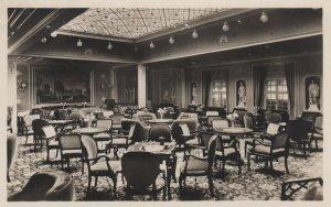 RP: Oceanliner BERLIN , Norddeutscher Lloyd Bremen , 1920-30s ; Interior