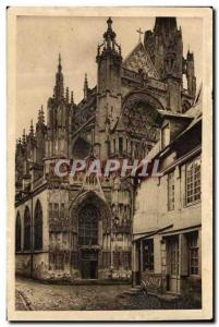 Rouen Le Havre Old Postcard caudebec in Vaux Church of Our Lady (15th)