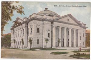 Christian Science Church, Denver, Colorado, unused Postcard