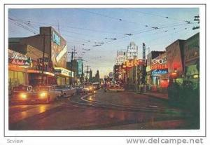 Night view 16thof Sept Ave, Mexico 40-60s