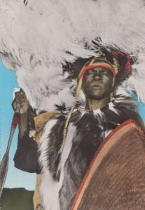 Luo Nilotic Warrior Uganda Tanzania Mombasa African Postcard