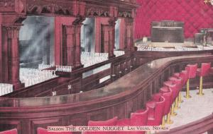 LAS VEGAS , Nevada , 30-40s ; Interior, THE GOLDEN NUGGET Saloon & Gambling Hall