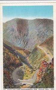 Mountain Valley, Classic Car on Safety-Pin Curve, Near Roosevelt Dam, Apache...