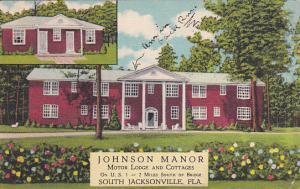 JACKSONVILLE, Florida, PU-1942; Johnson Manor Motor Lodge and Cottages, U.S. 1
