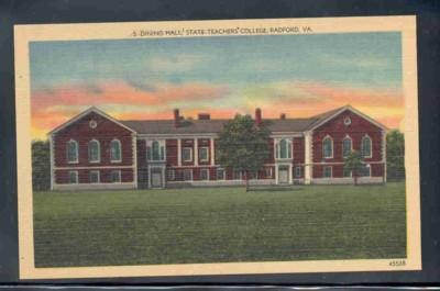 Virginia postcard Dining Hall State Teachers College Radford
