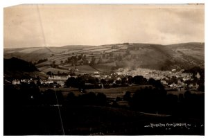 Aerial view of Knighton fron LLanshay