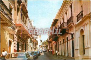 Modern Postcard Puerto Rico Typical Street in Old San Juan