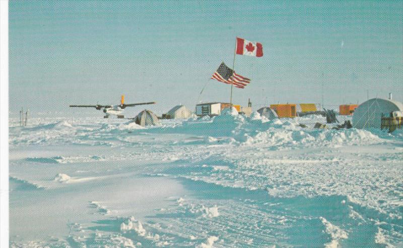 Artic Ice Dynamics Joint Experiment main AJDJEX Camp BIG BEAR , 1975 ; Floa...
