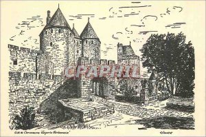 Postcard Modern Cite of Carcassonne Narbonne Gate