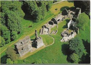 Okehampton Castle, Devon colour postcard new, unused, English Heritage issue