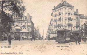 Belgium Bruxelles Porte de Louvain Tram