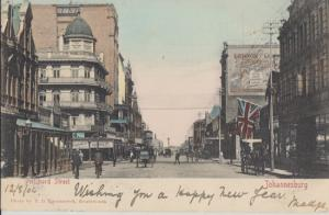 JOHANNESBURG South Africa - PRITCHARD STREET with horse and carriages, 1900s