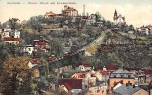 Loschwitz Germany Weisser Hirsch Train Cars Scenic View Antique Postcard J80668
