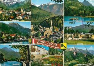 Postcard Austria multi view bad jschl salzkammergut katrin bahn church esplande