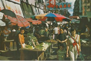 HONG KONG , China , 1950-70s ; An Open-Air Market