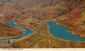 ID - Oxbow Dam in Hell's Canyon, Aerial