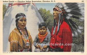 Indian Family, Cherokee Indian Reservation Cherokee, North Carolina, NC, USA ...