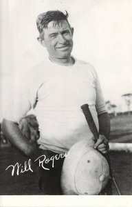 RPPC Real Photo Cowboy, Actor, Will Rogers,Polo Player,Old Postcard