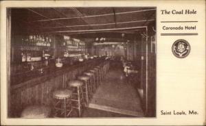 St. Louisd MO The Coal Hole Coronado Hotel 1940s Postcard