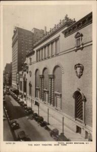 New York City Roxy Theatre Cars on St. c1920 Real Photo Postcard