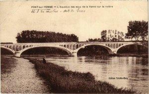 CPA Pont-sur-Yonne - L'Aqueduc des eaux de la Vanne FRANCE (960777)