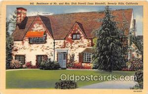 Beverly Hills, CA, USA Residence of Mr & Mrs. Dick Powell, Joan Blondell
