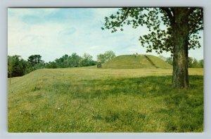 Natchez MS-Mississippi Natchez Trace Parkway, Emerald Mound, Chrome Postcard
