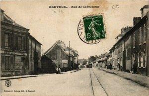 CPA BRETEUIL-Rue de CREVECOEUR (424338)