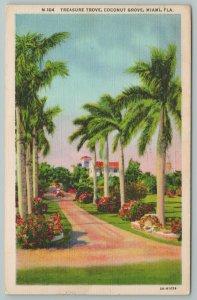 Miami Florida~Treasure Trove Coconut Grove~Vintage Postcard