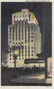 SPRINGFIELD , Illinois; 1910-20s; Illinois Building at Night
