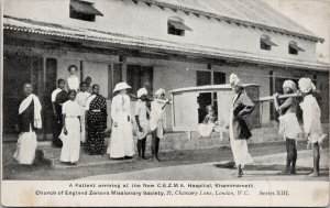 Patient Arriving at New CEZMS Hospital Khammamett India Unused Postcard E72
