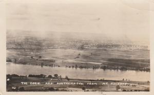 RPPC Connecticut River Northampton MA Massachusetts View from Mt Holyoke pm 1920