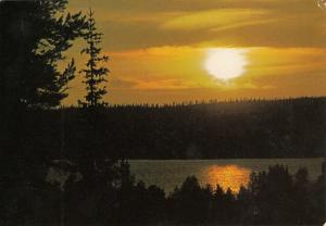 Finnish sunset Finland postcard