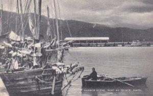 PORT AU PRINCE, Haiti, 1930-1950s; Harbor Scene