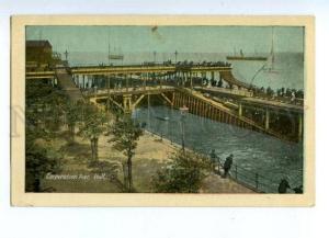 144619 UK ENGLAND HULL Corporation Pier Vintage postcard